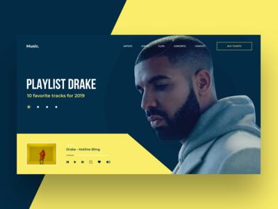 MUSIC PORTAL | DRAKE | FEDOROV DESIGN