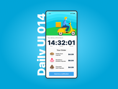 Daily UI 014 - Countdown Timer daily ui mobile ui design