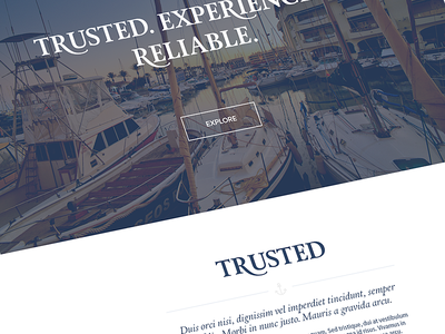 Marina Projects Redesign - Homepage Snippet website design marina corporate typography type font modern