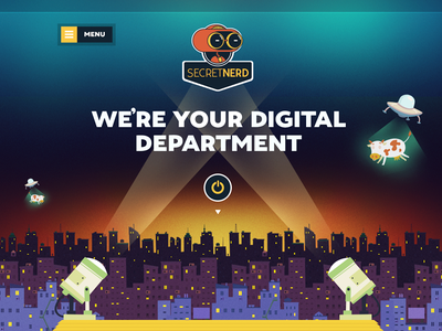 Secret Nerd - Homepage Segment website design illustration nerd robot web ui