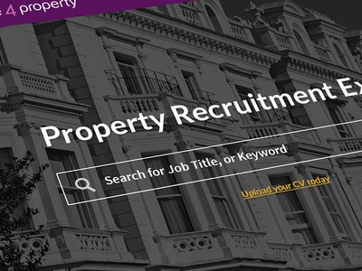 People 4 Property web design one pager parallax