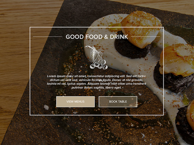 Ideal Collection - No.5 - Food & Drink web design website photography hampshire atelier photoshop development