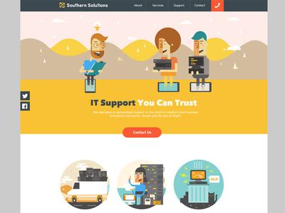 Homepage Design web design illustration responsive design