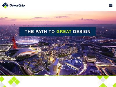 DekorGrip - Homepage Concept website concept image css site atelier studios web design