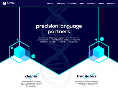 Parallel Translations - Homepage Redesign homepage photoshop design website design