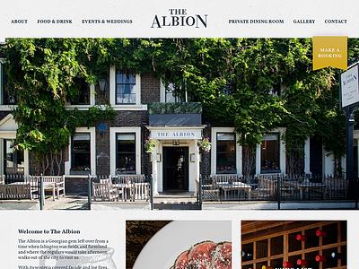 The Albion Pub Redesign engraving food bar restaurant website design redesign pub