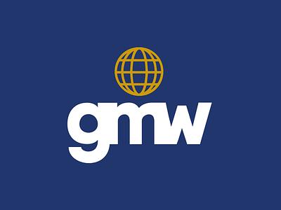 Global Marine Wraps Logo design print blue world wraps marine global logo