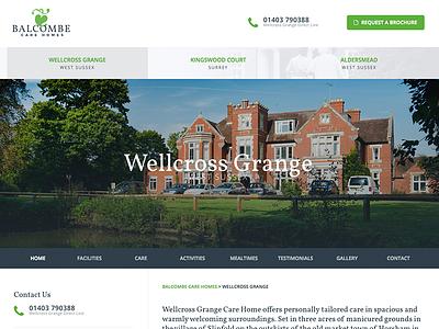 Balcombe Care Homes Redesign green design website redesign home care