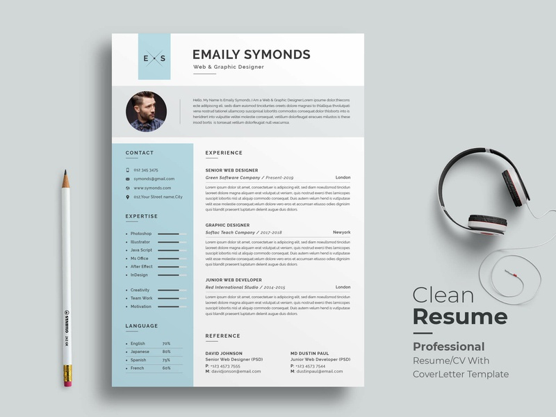professional resume template by classic designp on dribbble
