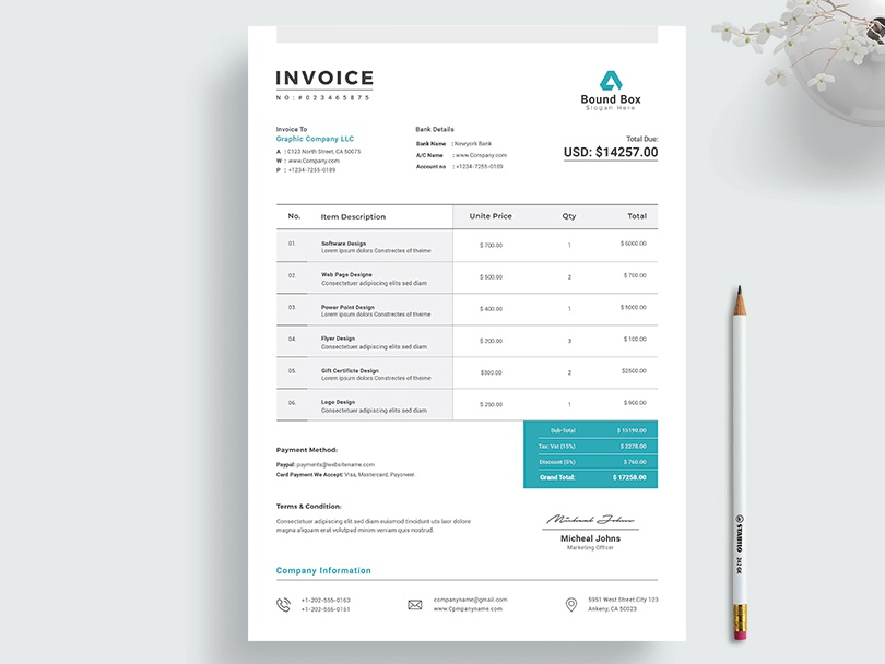 Invoice By Classic Designp On Dribbble
