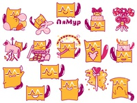 "Stickers  for ""LaMyr"" decor studio"