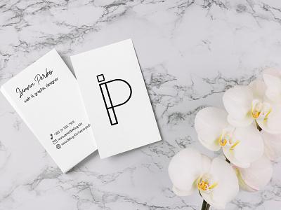 Business Card graphic  design web  design monogram typography logo design branding