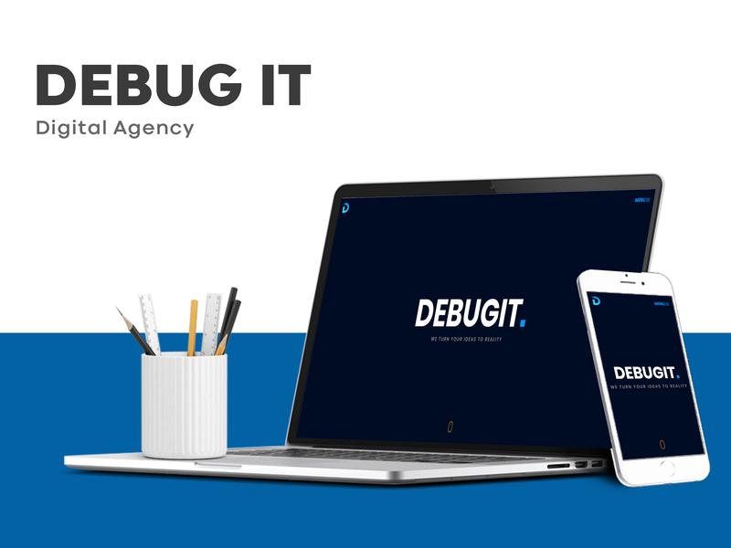 Debug IT website responsive web development typography web graphic  design ui javascript css html bootstrap web  design logo design