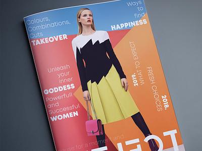 Magazine cover magazine cover branding graphic  design design