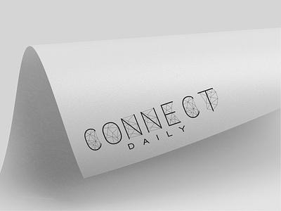 Connect Daily - magazine typography graphic  design branding design logo