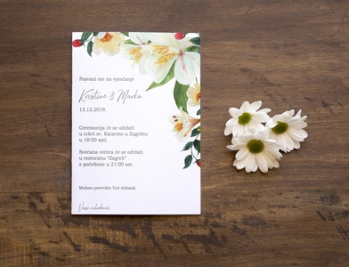 Pozivnica za vjenčanje branding design vector illustration graphic  design