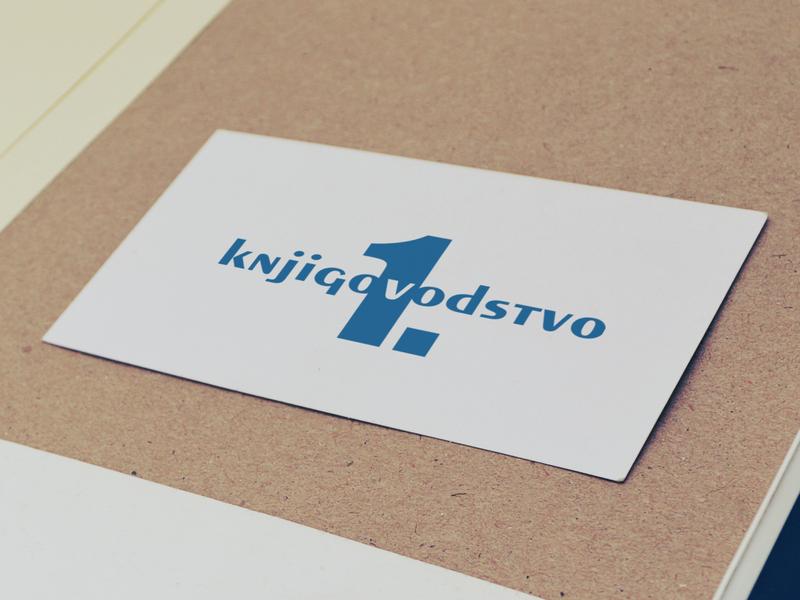 Prvo knjigovodstvo graphic  design typography vector logo branding