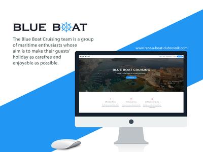 Rent-a-boat Dubrovnik frontend website design website bootstrap web  design