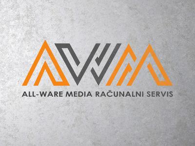 AWM Servis računala logotype graphic  design vector logo branding