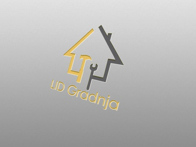 LID Gradnja vector graphic  design design logo branding