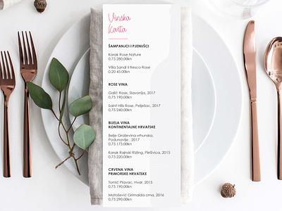 Vinska karta menu card wine list restaurant design graphic  design