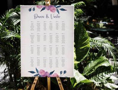 Seating chart for wedding design art wedding invitation seating wedding typography vector graphic  design