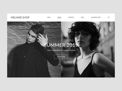 Homepage E-commerce