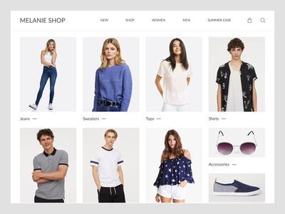 Online Store Screen