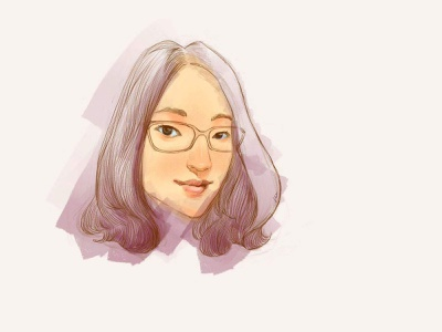 my personal headshot head portrait hand drawn head woman