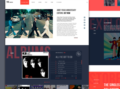 The Beatles new website thebeatles concept website music web design webdesign