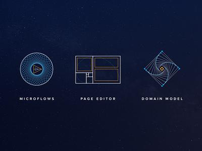 Geometric pillars graphic line web illustration iconography geometry