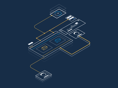 Connected Interfaces ui interface web illustration