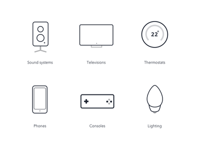 Devices light lined devices icons