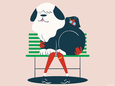 Lap Dog sheep dog sheepdog dog illustration digital art