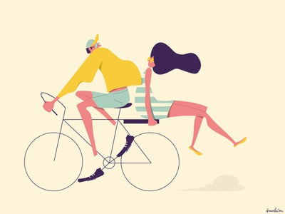 Bike Ride bicycle biking bike photoshop illustration digital art