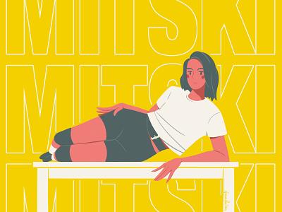 Mitski music musician mitski digital illustration photoshop illustration fanart fan art