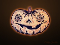 Vintage Pumpkin Sketch