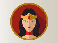 Wonder Woman 'Flat Icon Superhero Challenge'