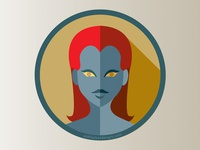 Mystique 'Flat Icon Superhero Challenge'