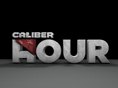 Caliber Hour cinema4d 3d caliber smart caliber media caliber marketing typography dznlabs logo design branding brand