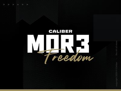 The Art of More caliber smart logos 2020 caliber marketing typography dznlabs logo design branding brand