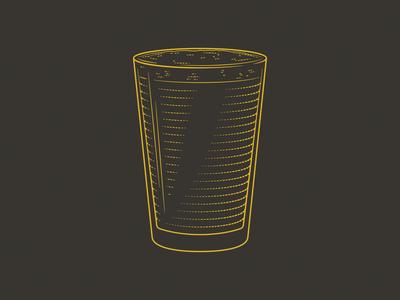 I'll Have A Pint pint glass beer line art vector illustration