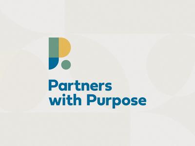 Partners with Purpose branding lettermark identity design identity logo design logo
