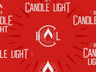 By Candle Light System monogram logo midcentury modern flame candle vector logo design branding type design identity design logo design