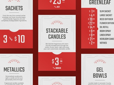 By Candle Light Store Signage typography design midcentury modern visual branding identity design signage