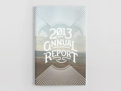 2013 Annual Report print report illustration lettering