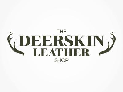 The Deerskin Leather Shop antlers retail leather deer design branding