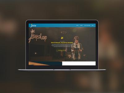 JoyShop Ministries non profit web design homepage joy ministry website digital