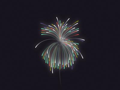 Celebrate 2018 lines design illustration new year