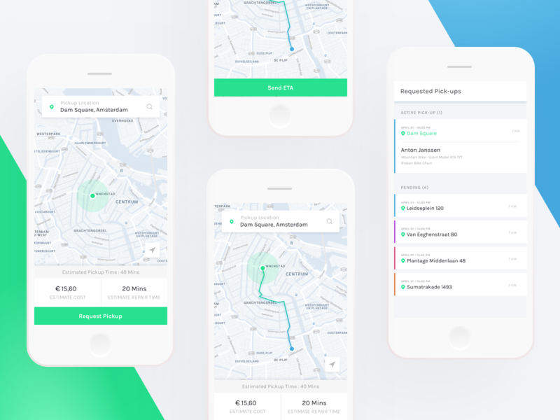 Bike Repair App Concept concept white minimal interface clean app design ui